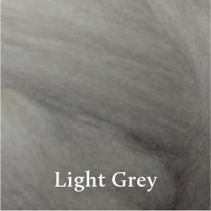 1 Light Grey Merino Waione Wool Carding