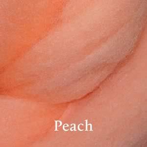 13 Peach Merino Waione Wool Carding