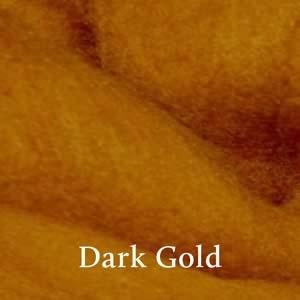 16 Dark Gold Merino Waione Wool Carding
