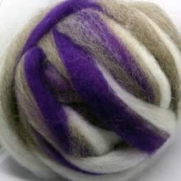 205 Candy Cane Purple Waione Wool Carding