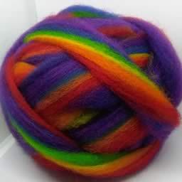211 Rainbow Waione Wool Carding