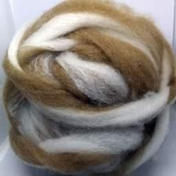 251 Caramel Twist Waione Wool Carding
