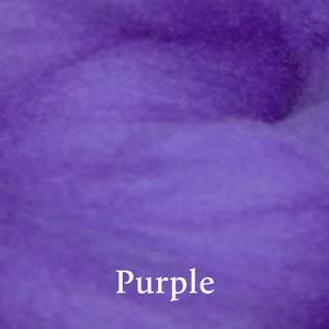 9 Purple Merino Waione Wool Carding